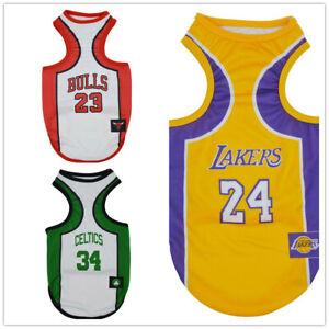 Basketball Pet Dog Jersey Shirt Soft Vest Size XS S M L XL XXL 3XL 4XL 5XL 6XL