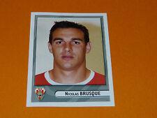 N°124 BRUSQUE BIARRITZ BO PANINI RUGBY 2007-2008 TOP 14 CHAMPIONNAT FRANCE