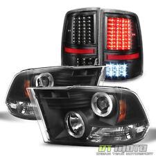 2009-2017 Dodge Ram 1500 2500 Halo Projector Headlights+Full LED Tail Lights Set