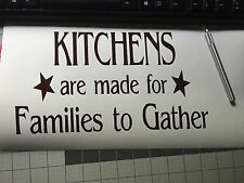 Kitchen Wall Decal Family Modern Vinyl Traditional Rustic Primitive Country