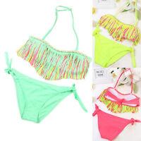 1 Set Toddler Kids Baby Girls Swimsuit Swimwear Bathing Suit Tankini Bikini Set