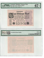 Germany 2 Millionen Mark 1923 Pick# 104c PMG-67 Superb GEM UNC. (#1271)