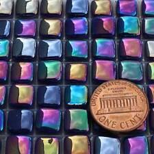 8mm Mosaic Glass Tiles - 2 Ounces About 87 Tiles Iridescent Ultramarine Dk Blue