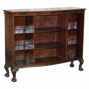 GARDNER & SON CIRCA 1840 SERPENTINE FRONTED CLAW & BALL FEET LIBRARY BOOKCASE