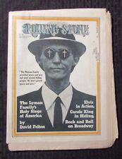 1971 ROLLING STONE Magazine #98 FN- Elvis - Carol King - Charles Manson