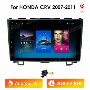 "9"" Android 10.0 Sat Nav Car Stereo For HONDA CR-V 2006-2012 GPS Widi AUX 32GB BT"
