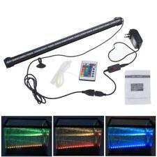 LAMPADA ACQUARIO TUBO NEON LED 5050 RGB BIANCO BLU LUNARE BOLLE LUCE PESCI ACQUA