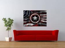 Captain America Stelle Strisce Bandiera SCUDO GIGANTE art print poster pannello nor0503