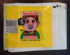 Vintage 1987 Garbage Pail Kids OS US 12th Series Wax Pack Wrapper w/o 25c Logo