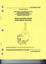 Arctic Space Heater, Repair Parts