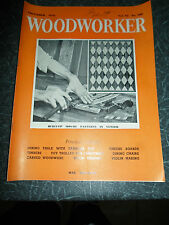 WOODWORKER November 1958 ~ Retro Vintage Illustrated Magazine + Advertising