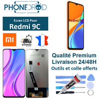 Écran complet LCD + Tactile Xiaomi Redmi 9C Black + Outils, stock en France