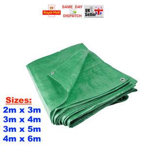 3 Sizes: Heavy Duty Green Tarpaulin Waterproof Cover Ground Sheet Garden