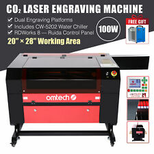 100w 28x20 70x50cm Co2 Laser Engraving Cutter Engraver With 5202 Water Chiller