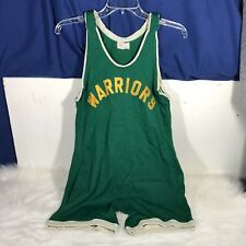 Vintage Olympic Products Made In Japan Warriors Wrestling One Piece Green Yellow