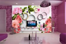 3D Circle Flowers 72 Wallpaper Mural Paper Wall Print Wallpaper Murals UK Carly