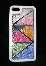 CASE per APPLE IPHONE 5 5s Strass Cover Posteriore Protezione BUMPER GUSCIO SLIM & BOX