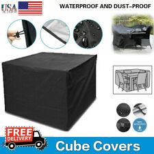 Heavy Duty Waterproof Patio Garden Furniture Table Cover Outdoor Large Rattan