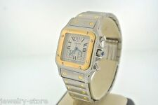 Cartier Santos Galbee 18kt Yellow Gold & Stainless Steel Men's Watch, Swiss Made