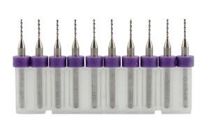 10x 0.85mm Micro Mini Dril Bit Tungsten Steel Dremel Rotary Tool Set-PCB-SMT etc