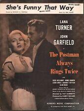 She's Funny That Way  Lana Turner The Postman Always Rings Twice Sheet Music