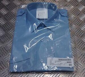 Genuine British Royal Air Force RAF Short Sleeve Blue Uniform Shirt - NEW