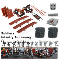Medieval Knights Catapult Castle Toy Army Soldiers Infantry Figure Set DIY Gift