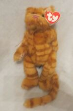 """Ty Attic Treasures Basil the Cat 1993 PVC Filled Fully Jointed 10"""" CREASED TAG"""