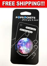 PopSockets Single Phone Grip PopSocket Universal Phone Holder Blue Nebula 101106