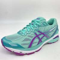 ASICS GT-1000 5 Mint Green Purple Womens Size 9 US DUOMAX Running Shoes T6A9N
