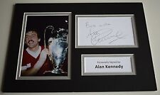 Alan Kennedy Signed Autograph A4 photo display Liverpool Football AFTAL & COA