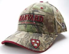 THE GAME 3 BAR NCAA WORDMARK TEAM LOGO CAMO CAP/HAT- HARVARD UNIVERSITY CRIMSON