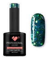 284 VB Line Green Glitter - UV/LED nail gel polish - super quality