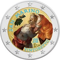 San Marino 2 Euro Münze 2018 Stgl 500 Geburtstag von Jacopo Tintoretto in Farbe