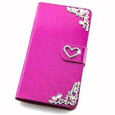 Glitzer Handy Schutz Hülle für Samsung Apple Flip Tasche Cover Case Etui Wallet