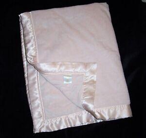 CLOUD B Velboa Baby Blanket Pink Peach Blush Satin Edge Trim Security Lovey