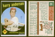 (28037) 1959 Topps 85 Harry Anderson Phillies-EM