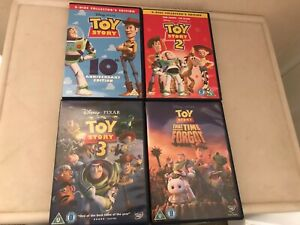 Toy Story 1 2 3 & That Time Forget DVD Bundle Disney Pixar R2