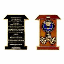 US NAVY MASTER TRAINING SPECIALIST CHIEF PETTY OFFICER PLEDGE CPO CHALLENGE COIN