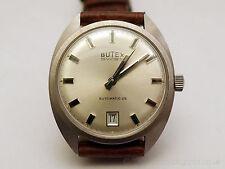 NOS 70s vintage Butex Automatic Sports Watch Silver Dial - ETA 2782 movement