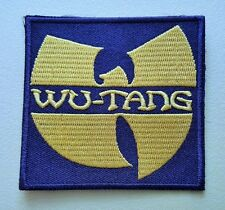 HEAVY METAL PUNK ROCK MUSIC SEW ON / IRON ON PATCH:- WU-TANG (a) YELLOW