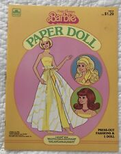 PRETTY CHANGES  BARBIE  PAPER DOLL 1981  UNPUNCHED  MATTEL