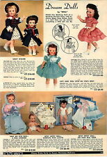 1956 ADVERT Ideal Dream Doll Dolls Saucy Walker Betsy Wetsy Baby Big Eyes