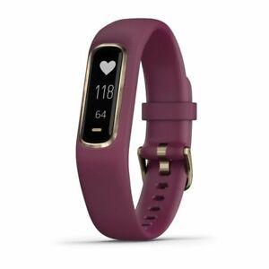 Garmin vívosmart 4 Small Fitness Activity Tracker Slim Berry Light Gold Merlot