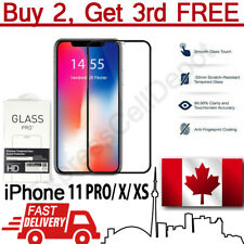 Full Cover Curved Tempered Glass Screen Protector for Apple iPhone 11 Pro X XS