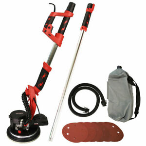 Excel 800W Telescopic Drywall Sander LED Dust Free Wall Ceiling Plaster Disc