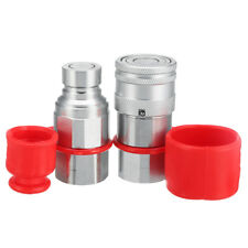 1/2 NPT Skid Steer Flat Face Hydraulic Quick Connect Coupler Coupling Set