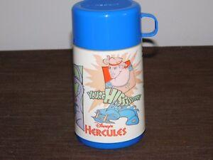 VINTAGE DISNEY ALADDIN HERCULES YOU'RE HISSSSTORY PLASTIC THERMOS NEW UNUSED