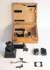 Vintage Zeiss Ica 6x4.5cm Microscope camera, Reflex Finder, box, accessories