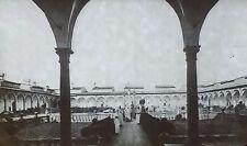 Cloister,Certosa di Firenze,Val d'Ema, Florence,Italy, Magic Lantern Glass Slide